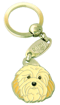 HAVANESE CREAM <br> (keyring, engraving included)